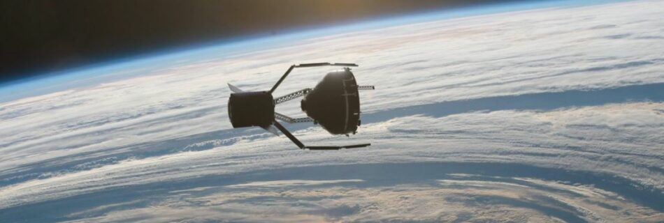 3d model of clearspace 1 satellite in space