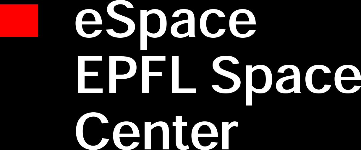 espace epfl space center logo white text Suisse Int