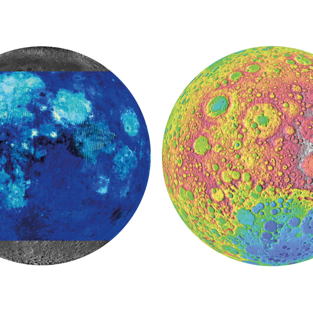 colourful images of the moon